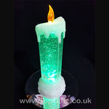 Colour Changing LED Candle Christmas Glitter Water Flickering_3