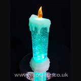 Colour Changing LED Candle Christmas Glitter Water 7