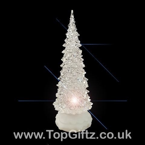 LED Christmas Tree Glitter Water Spinner Colour Changing