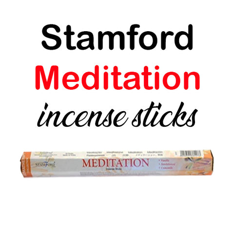 Stamford Meditation Incense Sticks Hex Prayer Relax Unwind
