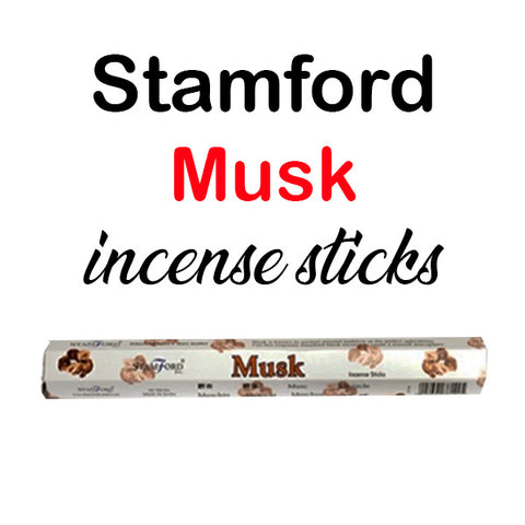 Stamford Musk Incense Sticks Hex Premium Quality Relaxation