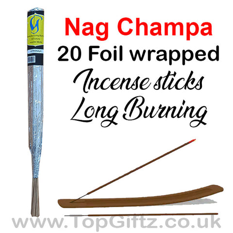 Nag Champa Incense Sticks Foil Wrapped - Govinda