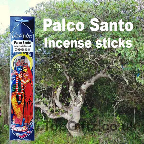 Govinda Palo Santo Incense Sticks Healing Asthma Headaches