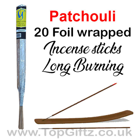 Patchouli Incense Sticks Foil Wrapped - Govinda