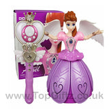 Princess Frozen Anna Infrared Remote Control Rotating Music_2