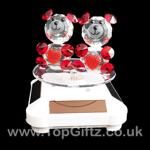 Crystal Clear Teddy Bears Solar/Battery Ornament Turning Base_1