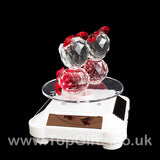 Crystal Clear Teddy Bears Solar/Battery Ornament Turning Base_3