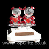Crystal Clear Teddy Bears Solar/Battery Ornament Turning Base_8