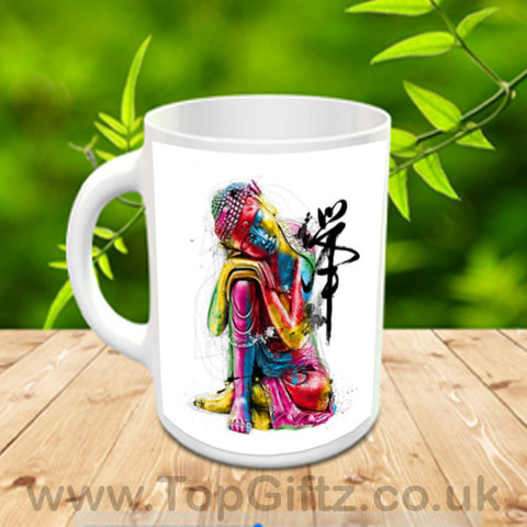 Abstract Thai Buddha Art Ceramic Mug In Resting Position_1