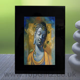 Abstract Thai Buddha Meditation Mood Black Crystal Frame No1_1