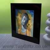 Abstract Thai Buddha Meditation Mood Black Crystal Frame No1_2