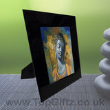 Abstract Thai Buddha Meditation Mood Black Crystal Frame No1_5
