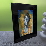 Abstract Thai Buddha Meditation Mood Black Crystal Frame No1_6