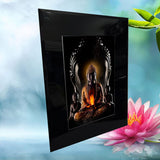 Abstract Thai Buddha With Two Children Family Protection No3 _6