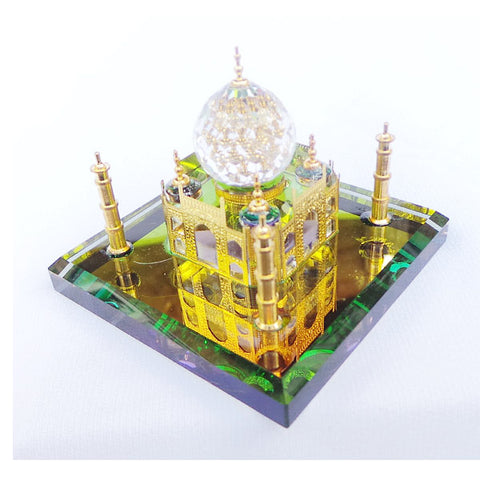 24K Taj Mahal, Crystal Ornament, Golden Temple, Mosque - topgiftz