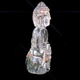 Thai Buddha Clear Crystal Sitting Down Meditating Medium Size - 7.6cm - TopGiftz