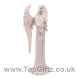 White Angel Standing Figurine Praying Indoor & Outdoor 20cm_2