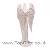 White Angel Standing Figurine Praying Indoor & Outdoor 20cm_3