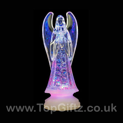 Colour Changing LED Christmas Angel Light Up Ornament Crystal Effect - TopGiftz