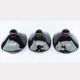 Black Airtight Tea Coffee Sugar Set - topgiftz