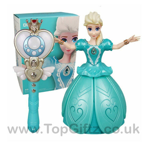 Princess Frozen Elsa Infrared Remote Control Rotating Music_1