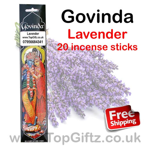 Govinda Lavender Incense Sticks Relaxing Premier Quality Masala