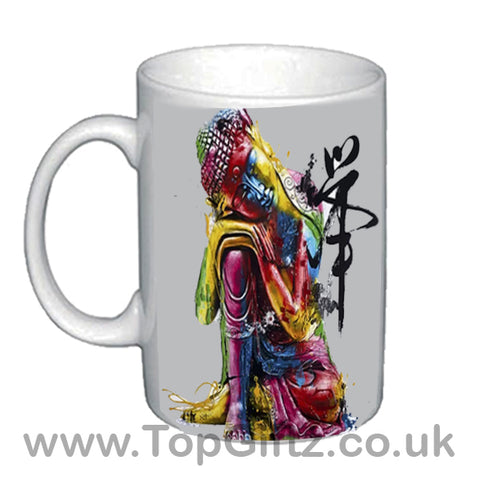 Thai Buddha Abstract Ceramic Mug In Resting Position image 1