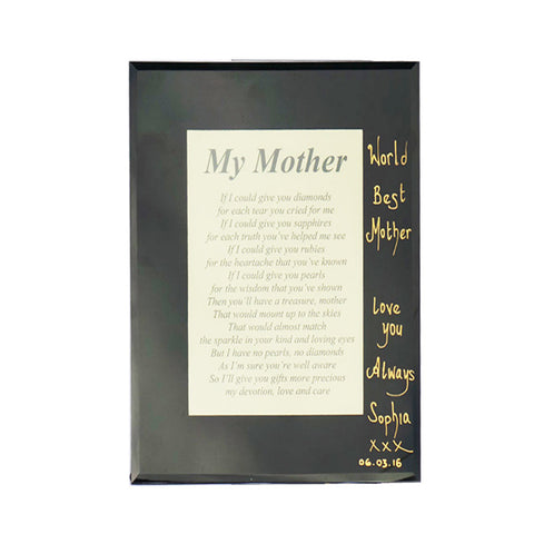 Personalised Poem - My Mother you are a Diamonds - TopGiftz