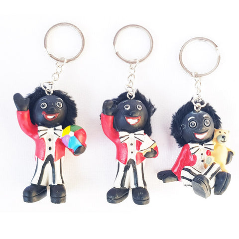 Golliwog Wog Golly Resin Keyring 3 Asst Figure Mini - Set