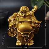 Happy Laughing Buddha Statue Figurine Ornaments - 6 Variations_1