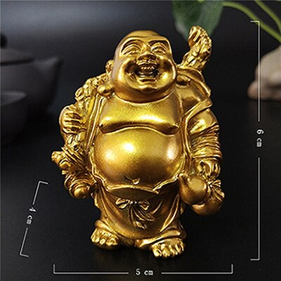 Happy Laughing Buddha Statue Figurine Ornaments - 6 Variations_3