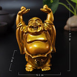 Happy Laughing Buddha Statue Figurine Ornaments - 6 Variations_6