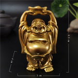 Happy Laughing Buddha Statue Figurine Ornaments - 6 Variations_2