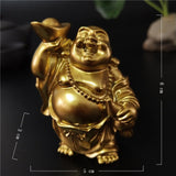 Happy Laughing Buddha Statue Figurine Ornaments - 6 Variations_5