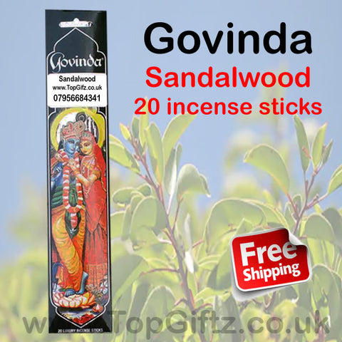 Govinda Sandalwood Incense Sticks Premium Quality Masala