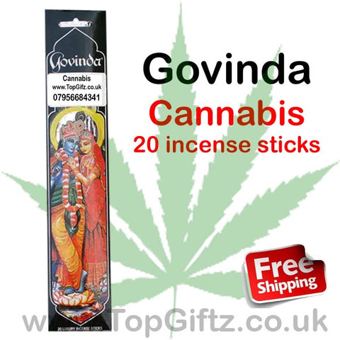 Govinda Cannabis Incense Sticks Premier Quality Masala