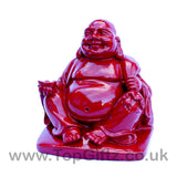 Happy Laughing Buddha Rosewood with sick of money - 3.81cm H - TopGiftz