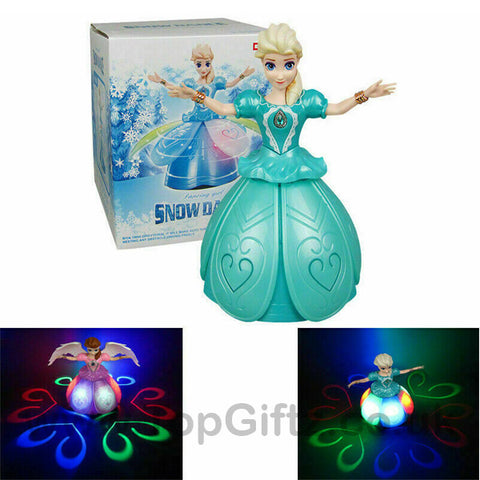 Princess Frozen Elsa Infrared Rotating Music Toys for Girls_1