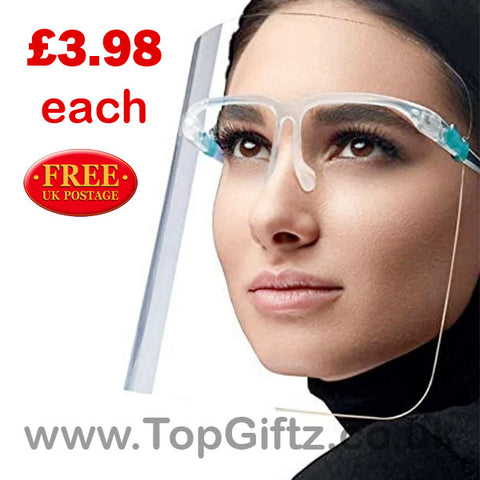 Plastic Adjustable Transparent Full Face Protective Shield_1