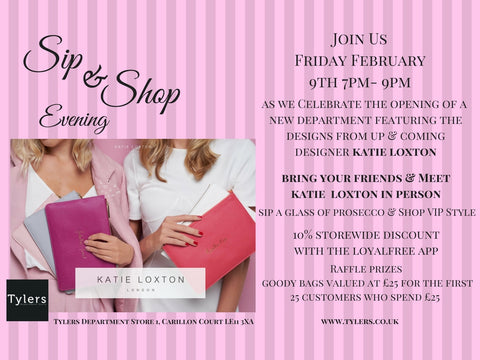 Katie Loxton Sip & Shop Event at Tylers Department Store