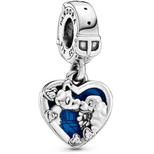 Load image into Gallery viewer, Pandora Disney Lady and the Tramp Heart Dangle Charm