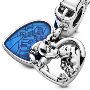 Pandora Disney Lady and the Tramp Heart Dangle Charm