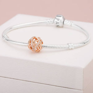 Pandora Rose Sparkling and Polished Lines Charm
