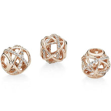 Load image into Gallery viewer, Pandora Rose Sparkling and Polished Lines Charm