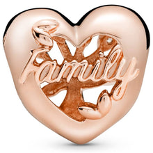 Load image into Gallery viewer, Pandora Rose Openwork Family Tree Heart Charm