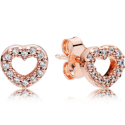 Pandora Rose Open Heart Stud Earrings