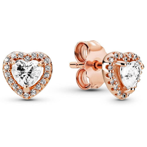 Pandora Rose Elevated Heart Earrings - Christmas Collection