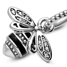 Load image into Gallery viewer, Pandora Silver Sparkling Queen Bee Pendant
