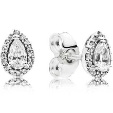 Load image into Gallery viewer, Pandora Sparkling Teardrop Halo Stud Earrings