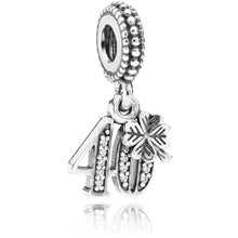 Load image into Gallery viewer, Pandora 40th Birthday Dangle Charm
